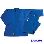 Martial Arts Uniform Judo Jujutsu Blue Single Weave Gi Dogi