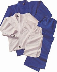 Martial Arts Uniform Judo Jujutsu Blue Deluxe