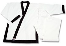 Martial Arts Uniforms Tang Soo Do Trimmed