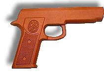 Martial Arts Weapons Rubber Practice Gun Orange