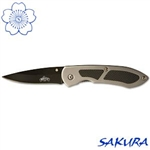 Martial Arts Weapons Knife Steel Folding Black Blade Stainless Steel Locking Blade