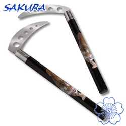 Martial Arts Weapons Kama Sickle Graphite Tiger