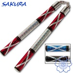 Martial Arts Weapons Nunchaku Zigzag Chrome