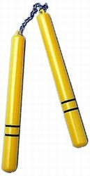 Martial Arts Weapons Nunchaku Gold Plastic