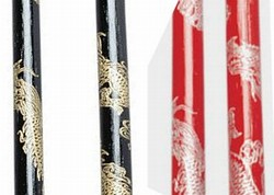 Martial Arts Weapons Sticks Escrima Dragon