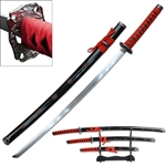 Martial Arts Weapons Sword Samurai Sakura 4 piece set includes stand