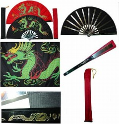 Martial Arts Weapons Tessen Fighting Fan Dragon