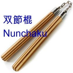 Martial Arts Weapons Nunchaku Ball Bearing Bamboo