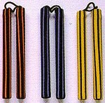 Martial Arts Weapons Nunchaku Foam Striped