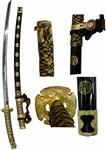 Martial Arts Weapons Sword Katana Gold Tachi