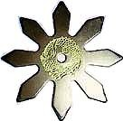 Martial Arts Weapons Shuriken Star Pro Dragon Blk
