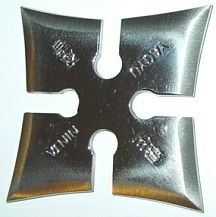 Martial Arts Weapons Star Shuriken Yagyu Silver
