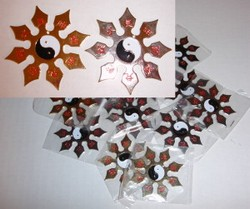 Martial Arts Weapons Star Shuriken Yin Yang Pack