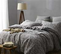Atacama Desert Oversized King Duvet Cover in gray - cozy soft bedding duvet cover XL King size