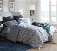Gray King XL Bedding Ice-Crystal Oversized King XL Comforter