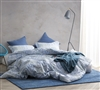 Junction Queen oversized blue Duvet Cover - Oversized Queen duvet cover XL with matching shams