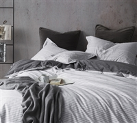 White King Sized Bedding Modern Oversized King XL Duvet Cover Static EFX Classic Line Design