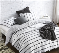 Softest Black Ink Twin Duvet Cover for extra long Twin size bed - with matching softest pillow sham in Twin oversize