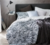Oversized King XL Comforter Scribble Black and White King Bedspread