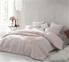 Petals Handsewn Twin Comforter - Oversized Twin XL comforters in Soft Ice Pink