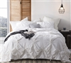 Oversized Queen comforter solid White - Knots Queen Oversized Comforter sets
