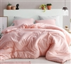 Soft Yarn Dyed Cotton Oversized Queen Comforter Stylish Highlands Coral Pink Unique Designer Queen XL Bedding