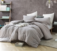 Designer King XL Comforter Stylish Farmstead Design with Neutral Color for Best Oversized King Bedding Decor