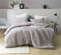 Unique Designer King Bedding 100% Yarn Dyed Cotton Oversized King XL Duvet with Stylish Farmstead Pattern