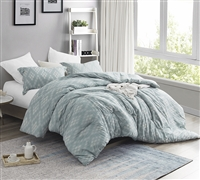 Stylish Argyle Moda One of a Kind Designer Queen Oversize Comforter Soft Yarn Dyed Cotton Queen XL Bedding