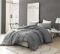 Designer King Oversize Comforter Unique Cavern Gray Croscutt Pattern Soft and Cozy King XL Cotton Bedding