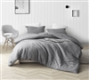 Croscutt - Cavern Gray - Oversized King Duvet Cover - 100% Cotton Bedding