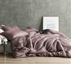 Croscutt - Rhubarb Brown - Oversized King Duvet Cover - 100% Cotton Bedding