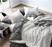 True Oversized King Comforter Black and White Contrarian Designer King XL Cotton Soft Bedding