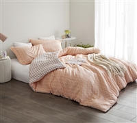 Just Peachy - Oversized Twin Comforter - 100% Cotton Bedding