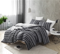 Trinity - Black and White - Oversized King Comforter - 100% Cotton Bedding