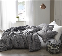 Designer Queen XL Bedding Stylish Gray Lightening Super Soft Microfiber Oversized Queen Comforter