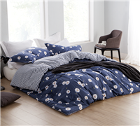 Blue XL King Comforter for King sized bedding oversized - Blue comfortable comforters