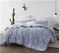 Midnight Hive Full Comforter extra wide - white and navy softest comforters for sale