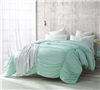 Hint of Mint Waves - Handcrafted Series  - Oversized King XL Comforter