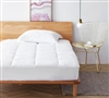 Queen Bedding Essentials Queen Size Mattress Pad for Comfort and Support with Clean Health Anti-Bacterial Treatment