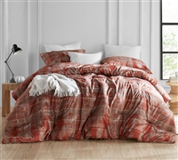Brucht Designer Supersoft King XL Comforter - Unearthed - Copper/Brown