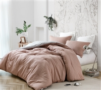 Restive Sierra Grid Oversized Queen Comforter - 100% Cotton