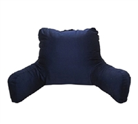 Bedrests for Cheap - Brushed Twill Campus Bedrest - Navy - Best Bedding Accessories