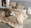 Neutral Toasted Almond Decorative Queen XL Bedding Stylish High Quality Queen Oversize Bedding Douro Valley