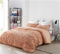 Torrent Handcrafted Series King Comforter - Oversized King XL - Apricot Nectar
