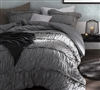 XL Twin size Comforter - Oversized bedding comforters sized Twin XL gray
