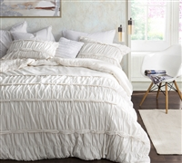 Torrent Handcrafted Series - Oversize King Comforter XL in off white