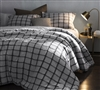 Frayed Edgings XL King Comforter set -  Oversized King comforters XL Black and White