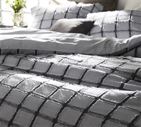 Oversize King size Duvet Cover - Black and White soft duvet cover sized King XL