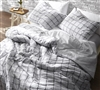 Extended Twin size Duvet Cover Oversized White and Gray - Cozy soft duvet cover Twin XL